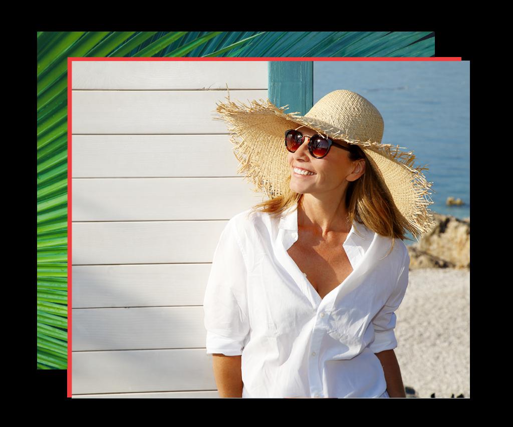 woman enjoying a vacation